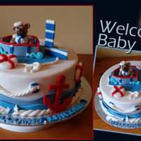 Nautical Baby Shower Nautical themed shower, all decorations made from fondant.