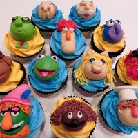 Muppet Themed Cupcakes I made these super cute guys for a co-worker's Birthday. Animal is my favorite!