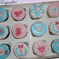 Birthday Cupcakes For Little Girl Cupcake toppers for a little girl turning 8. Mom wanted classy cupcakes.
