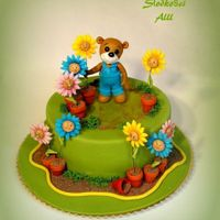 Teddy Bear Gardener Inpiration cake Mirta Bascardi.