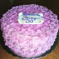 Pink Rossetts Cake cake with BBC rossetts hope you like