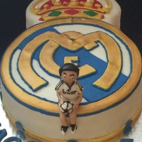 Real Madrid Fondant Cake this cakes also was sent to me from a client for me to make so I hope I did it justice