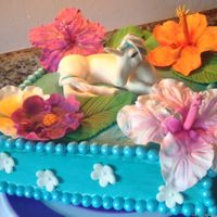 Unicorn And Hibiscus Cake Sooooo when asked to make a cake that used a unicorn and tropical flowers, this is what I came up with. I get asked to make unicorn and...