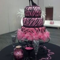 Sweet 16 black and hot pink zebra