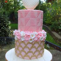 Pink And Gold Wedding Cake I have made this cake for lovely couple