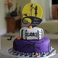 Nightmare Before Christmas Wedding Cake My first wedding cake.