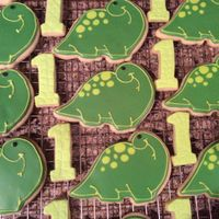 Dinosaurs royal iced dinosaurs for a 1st birthday