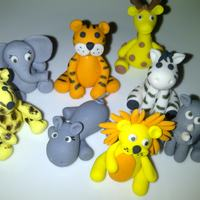 Wild Animals African wild animal figurines to put on a cake