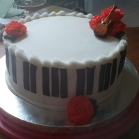 Piano Cake Was asked to do a cake for someone who loves to play piano and guitar and on short notice this is what I came up with.
