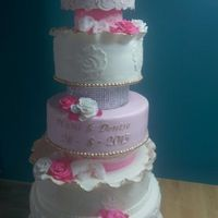 Pink Weddingcake a weddingcake