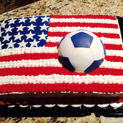 Patriotic Soccer Themed Cake