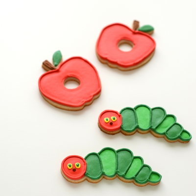 Very Hungry Caterpillar Cookies on Cake Central