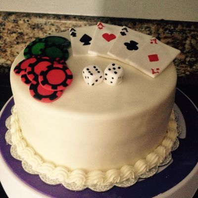 Gambling Themed Cake
