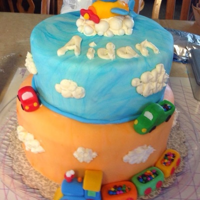Cars Trucks Planes And Trains Cake