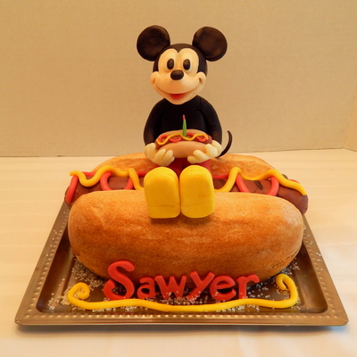 Hot Dog Mickey Smash Cake