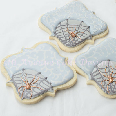 Spooky Spiders And Web Halloween Cookies