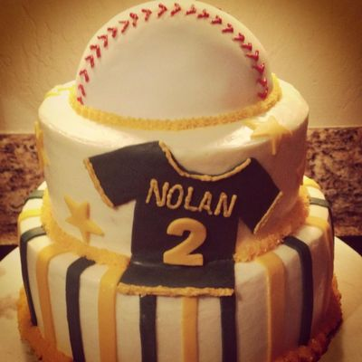 Baseball Themed Baby Shower Cake