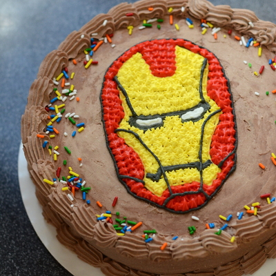 Iron Man Birthday Ice Cream Cake on Cake Central