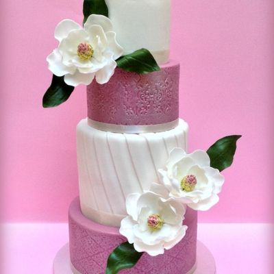 Sugar Magnolias Wedding Cake