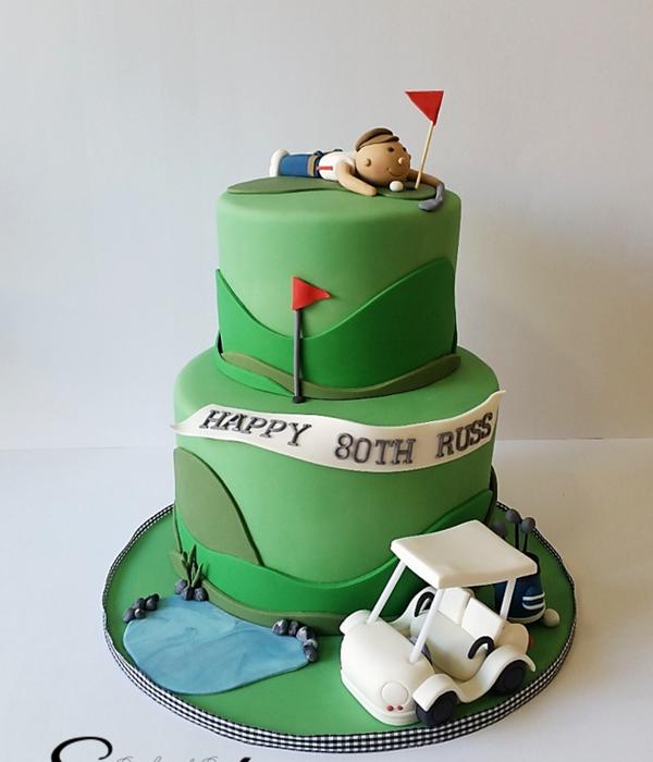 Golf Design Cake