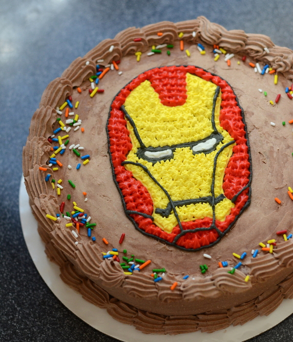 Iron Man Birthday Ice Cream Cake