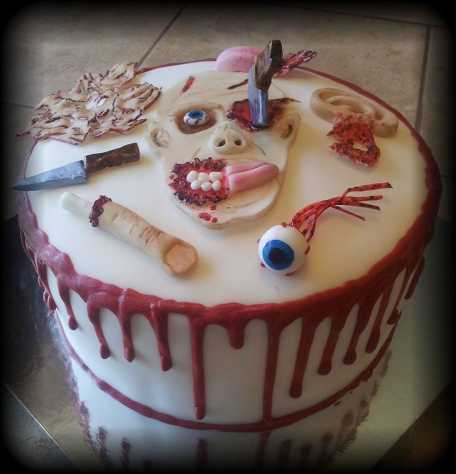 Incredible Zombie Cake Cakecentral Com Funny Birthday Cards Online Aeocydamsfinfo