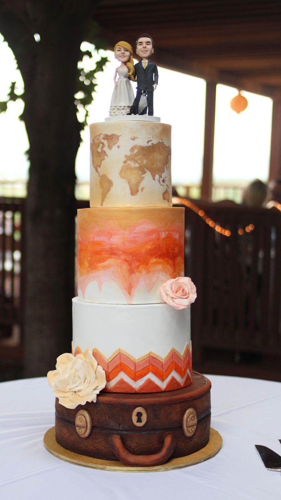 Travel Theme Wedding Cake Cakecentral