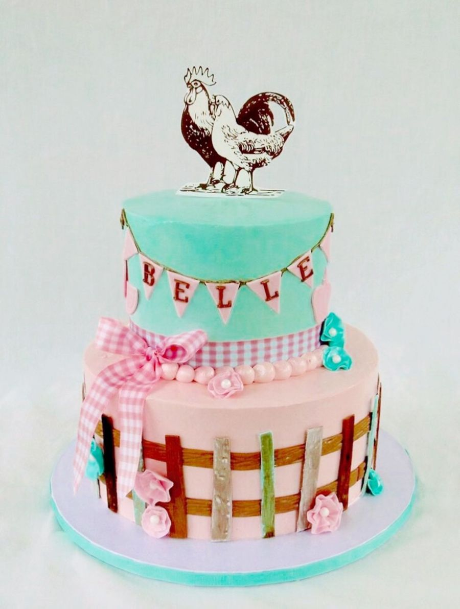 Vintage Farm Fresh Birthday Cake Cakecentral