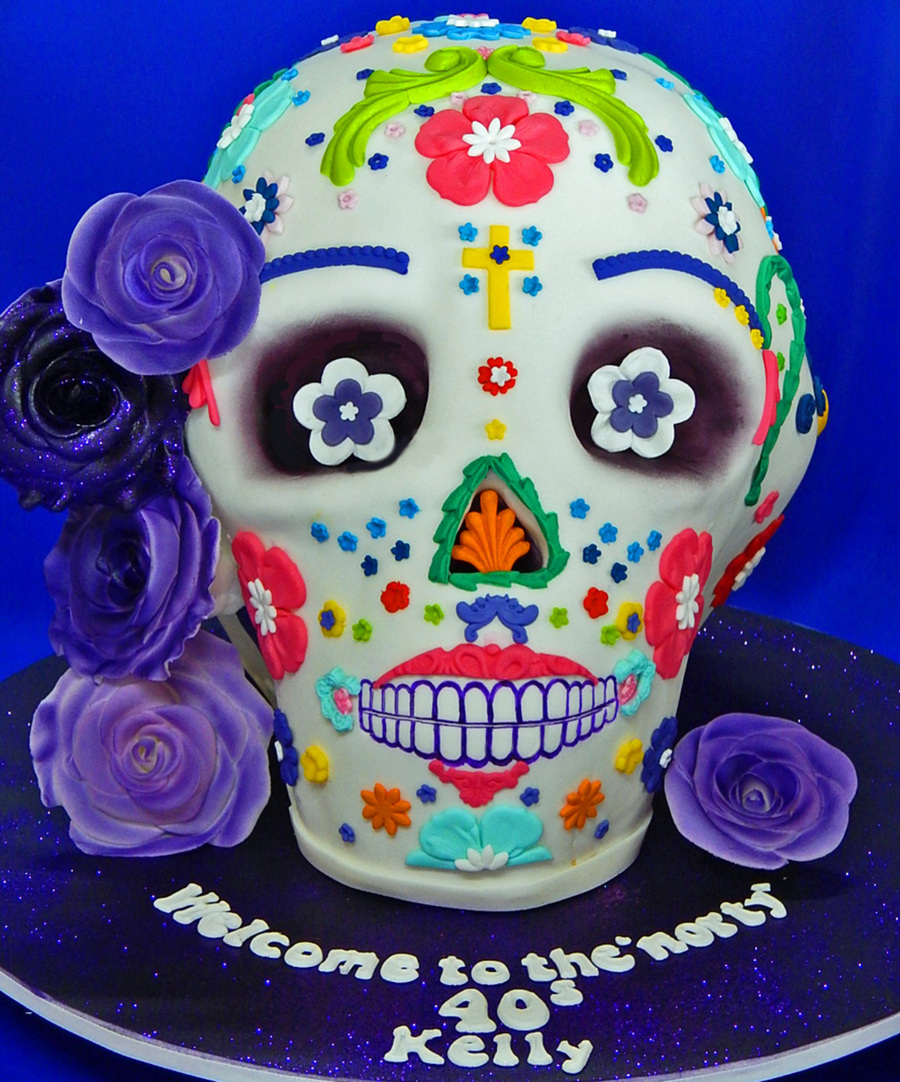 Day Of The Dead Skull Birthday Cake Cakecentral