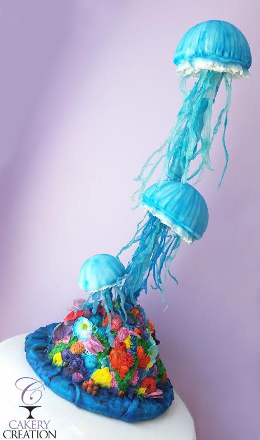 Jellyfish Cake - CakeCentral.com