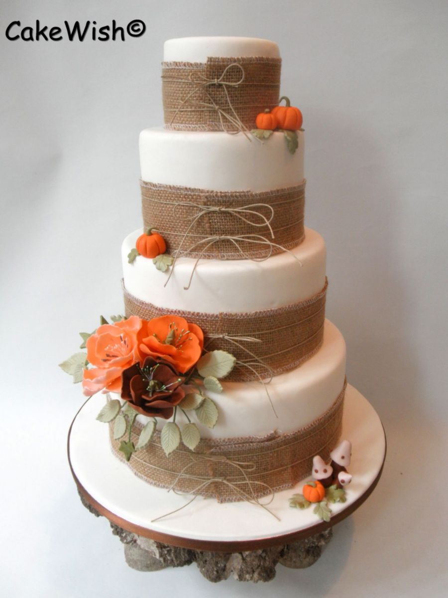 wedding cakes falling over fall wedding cake cakecentral 24342