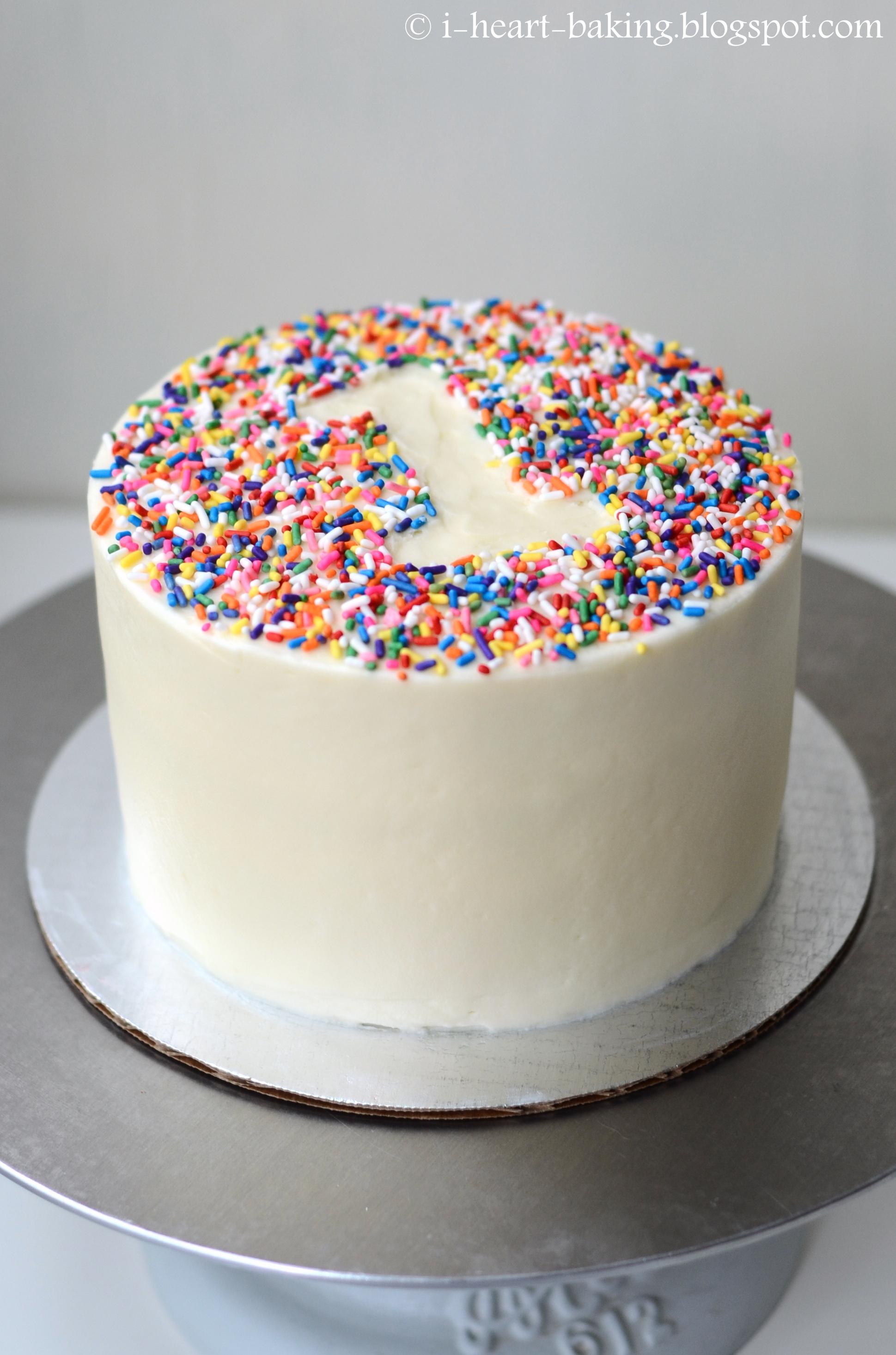 Rainbow Sprinkle First Birthday Smash Cake Cakecentral Com