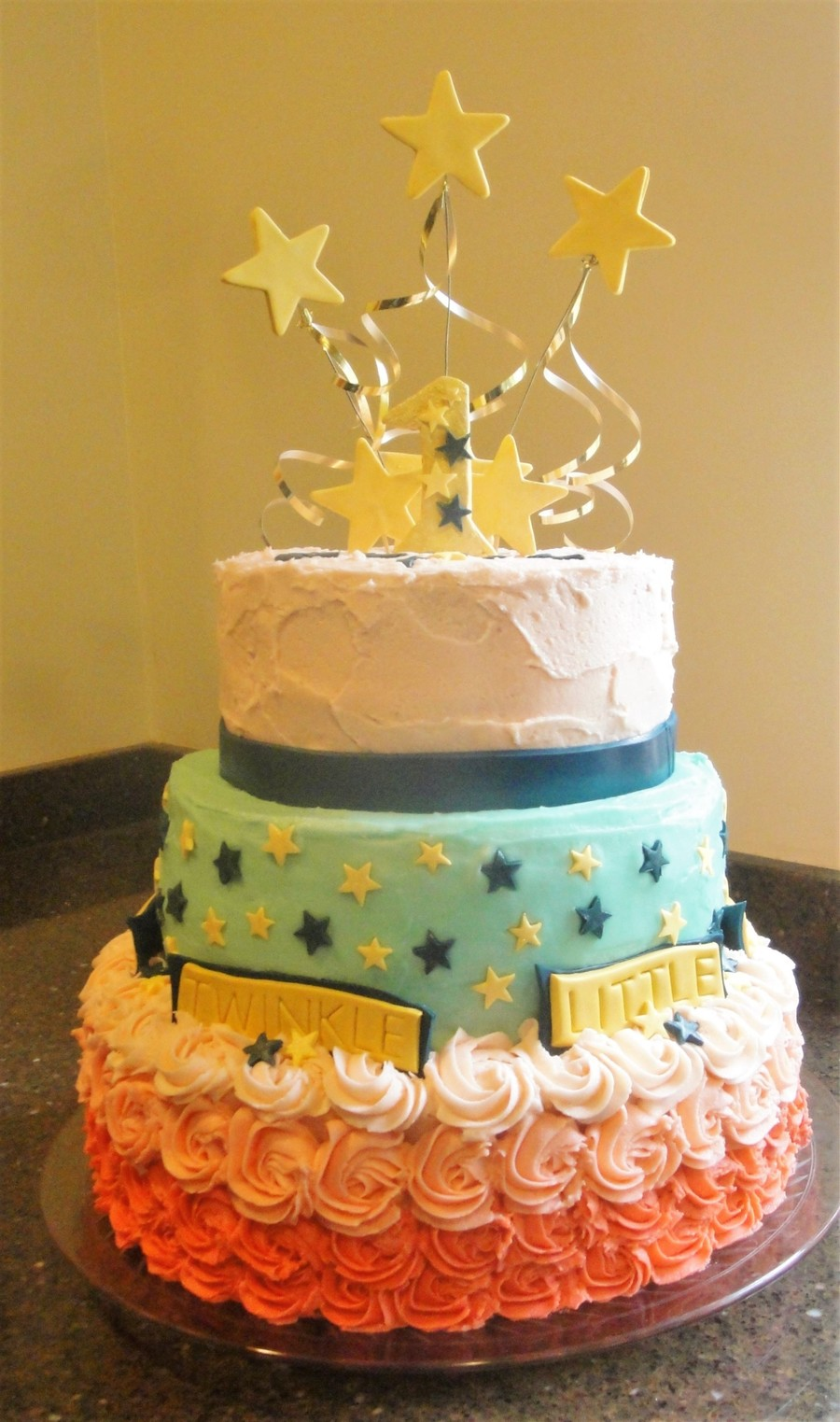Twinkle Twinkle Little Star Birthday Cake CakeCentralcom