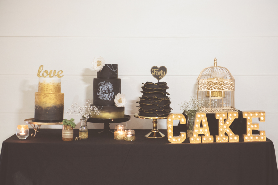 Black And Gold Wedding Cakes on Cake Central