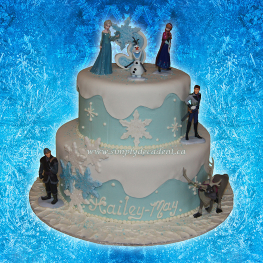 2 Tier Fondant Disney Frozen Birthday Cake With Queen Elsa Princess
