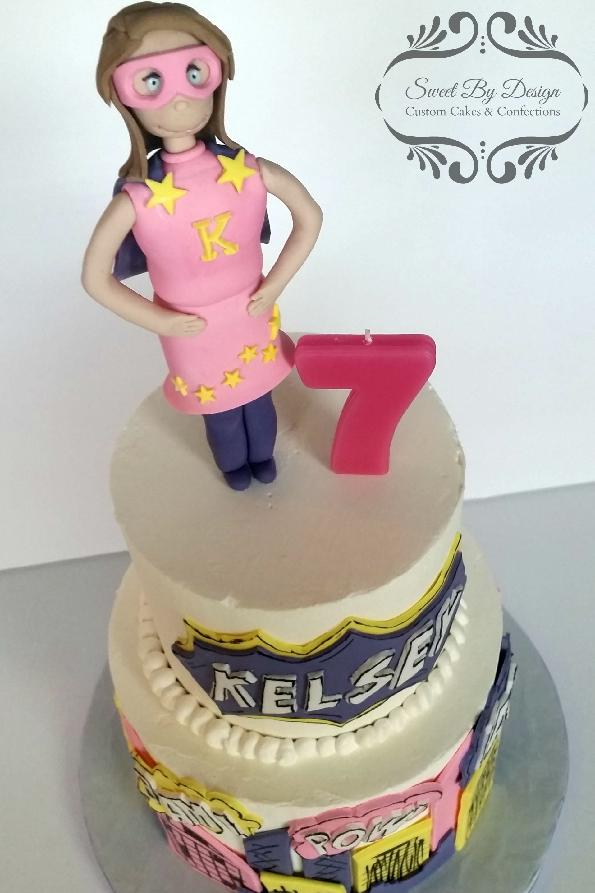Superhero Girl Birthday Cake Cakecentral Com