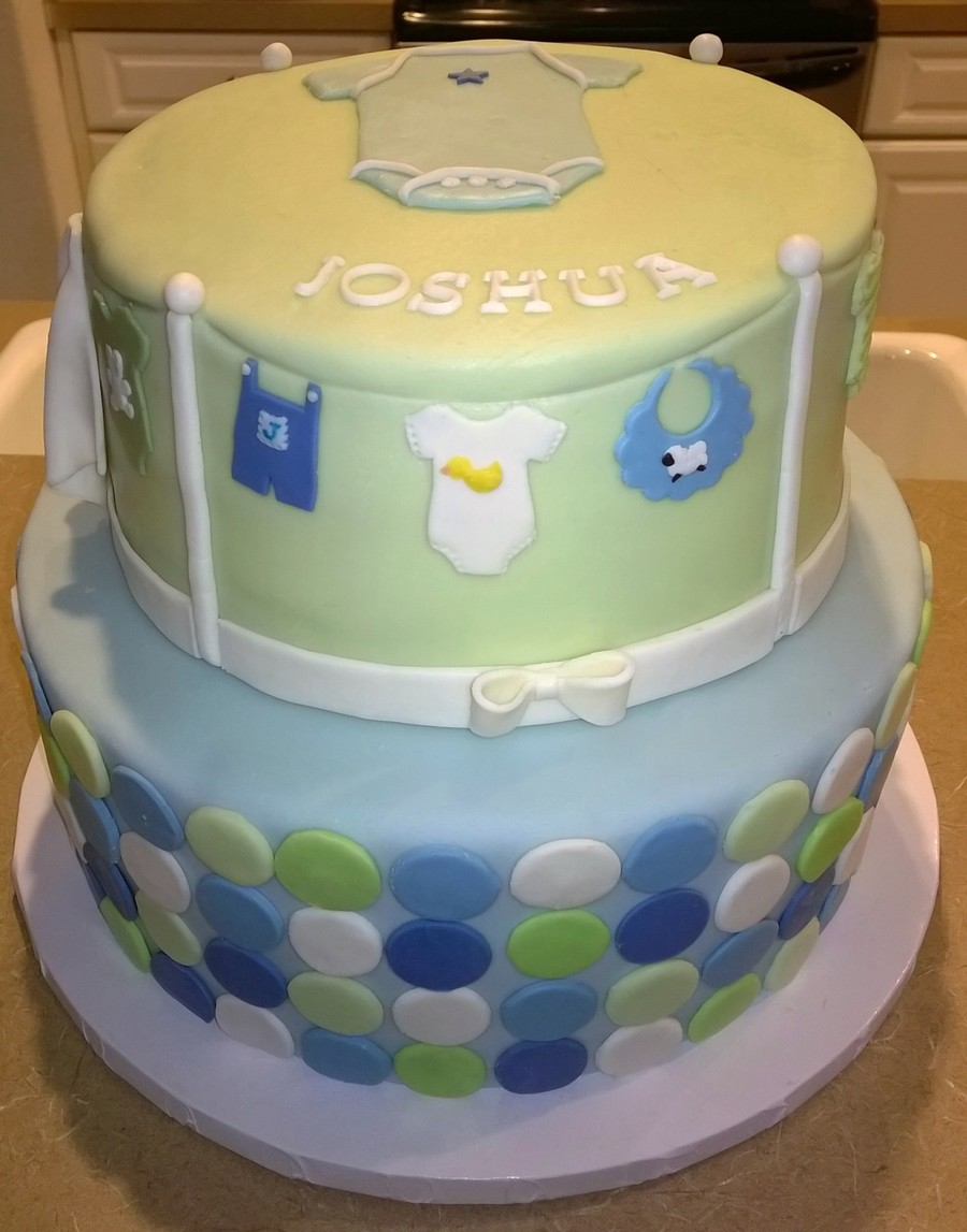 Clothes Line Baby Shower Cake Cakecentral