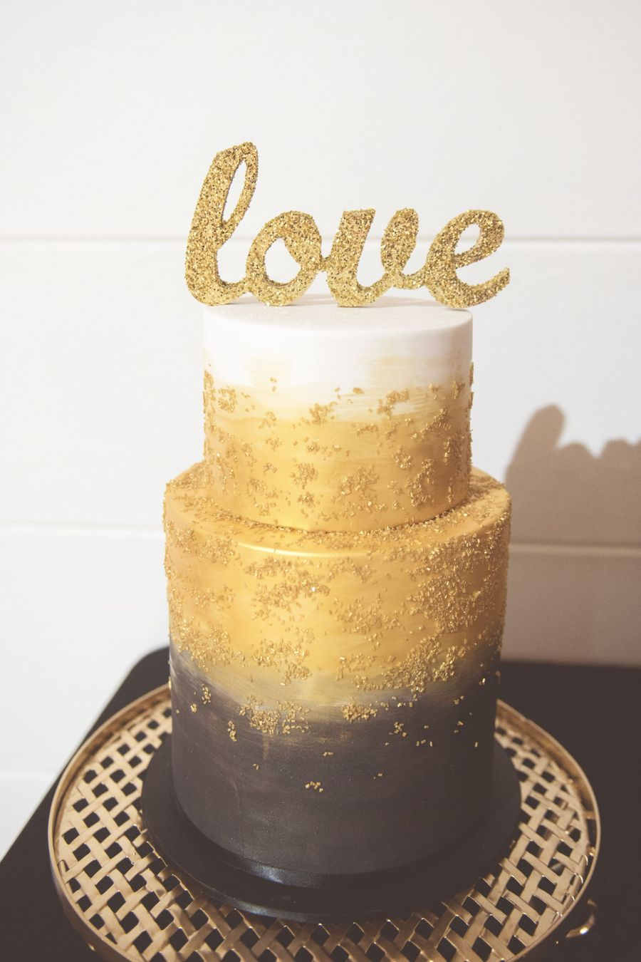 Gold And Black Wedding Cake on Cake Central
