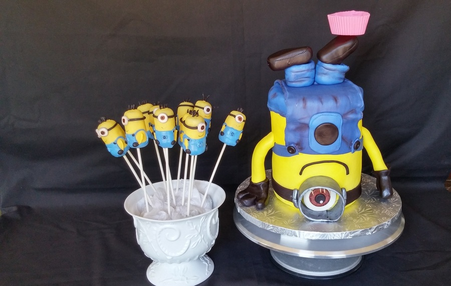 Minion Cake And Cake Pops on Cake Central