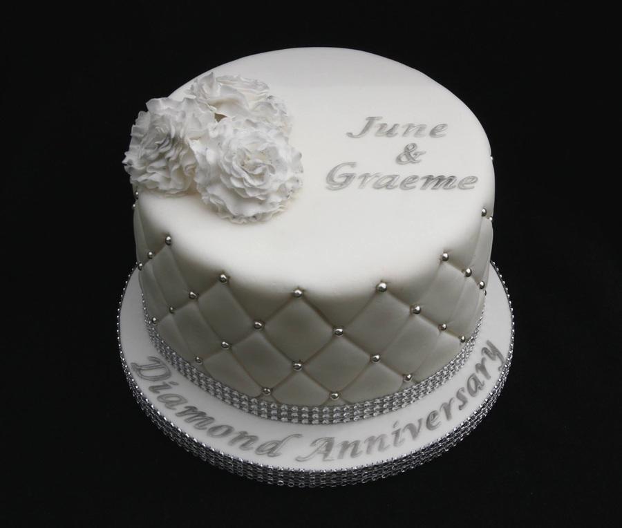 60th Diamond Wedding Anniversary Cake Cakecentral Com