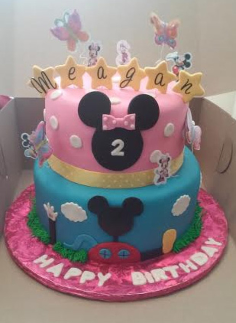 Tier Minnie/mickey Mouse Cub Themed Birthday Cake - CakeCentral.com