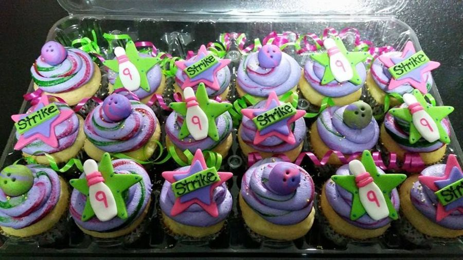 Neon Bowling Cupcakes On Cake Central