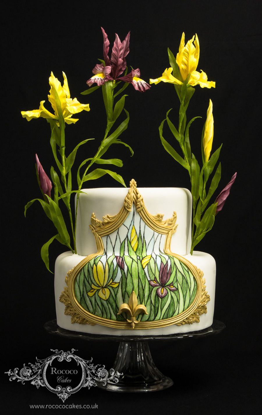 Iris Stained Glass Cake on Cake Central
