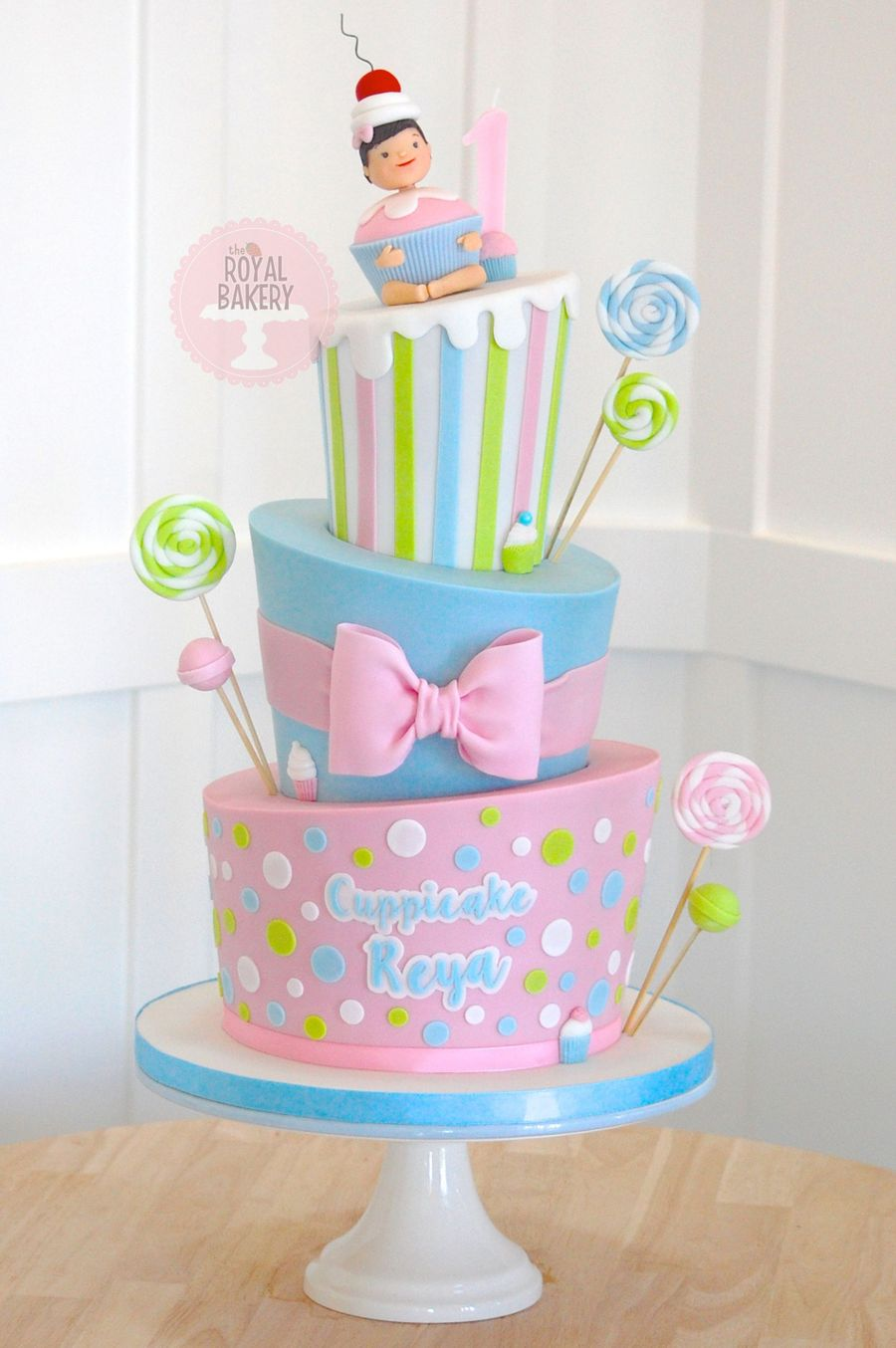 Cupcake Topsy Turvy Cake on Cake Central
