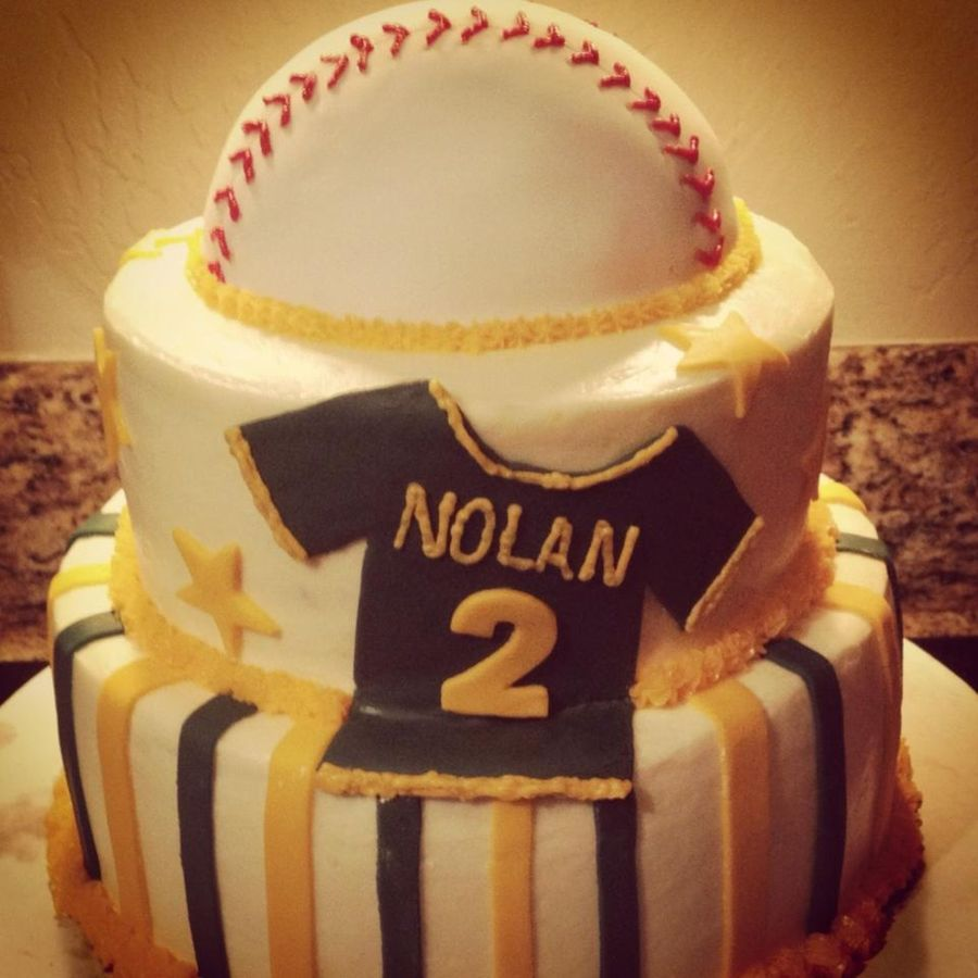 Baseball Themed Baby Shower Cake on Cake Central