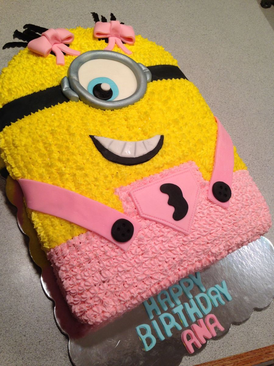 Girly Minion Cake Cakecentral Com