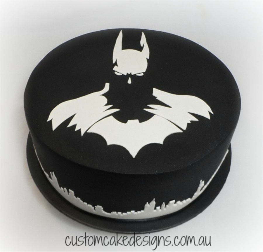Dark Knight Birthday Cake