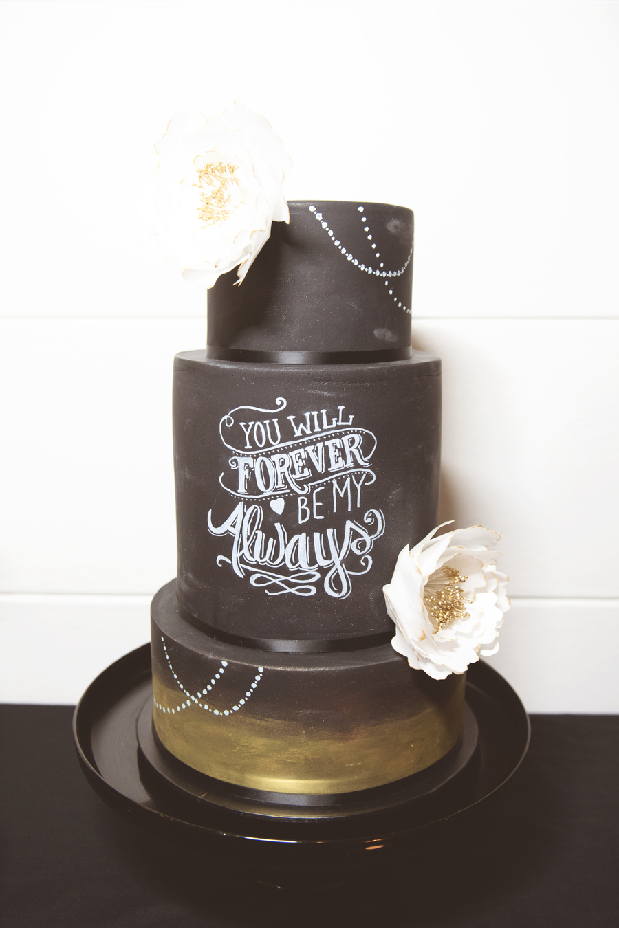Chalkboard Wedding Cake on Cake Central