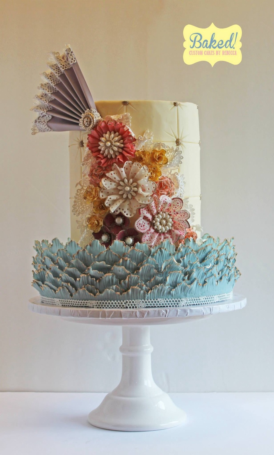 Shabby Chic Vintage Lace Cake on Cake Central