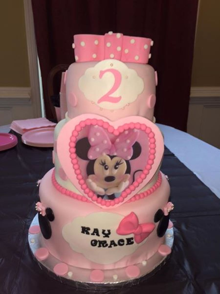 Minnie Mouse Second Birthday Cake Cakecentral